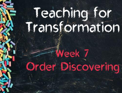 TfT Week 7 – Order Discovering