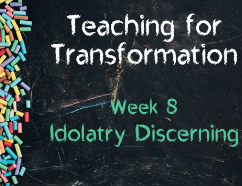 TfT Week 8 – Idolatry Discerning